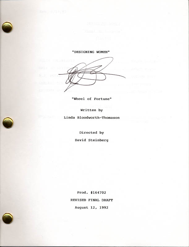 Image 1 for Dixie Carter - Script Signed Circa 1992 - HFSID 179563
