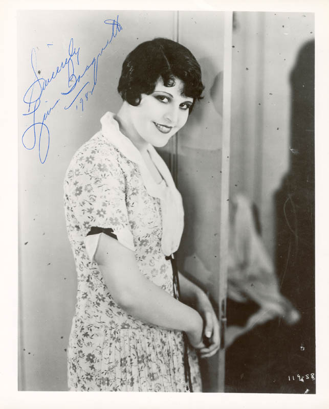 Image 1 for Lina Basquette - Autographed Signed Photograph 1982 - HFSID 179770