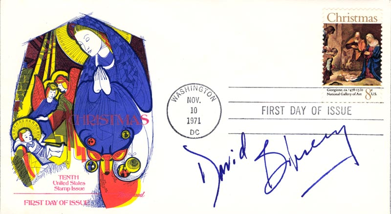 Image 1 for David E. Birney - First Day Cover Signed - HFSID 180031