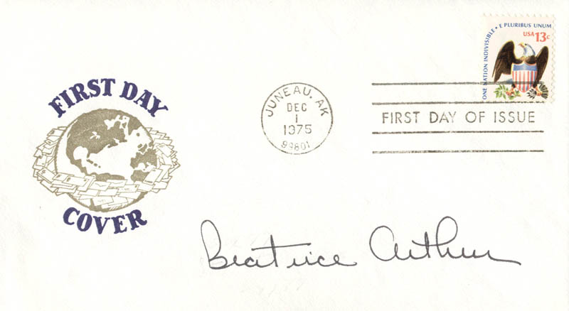 Image 1 for Beatrice 'Bea' Arthur - First Day Cover Signed - HFSID 180037