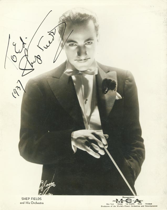 Image 1 for Shep Fields - Autographed Inscribed Photograph 1937 - HFSID 180116
