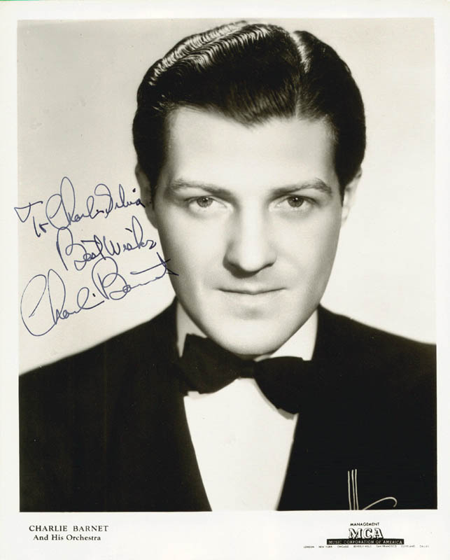 Image 1 for Charlie Barnet - Autographed Signed Photograph - HFSID 180123
