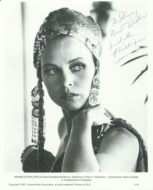 Image 1 for Michelle G. Phillips - Autographed Inscribed Photograph - HFSID 180199