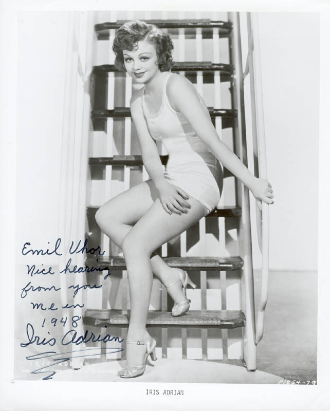 Image 1 for Iris Adrian - Autographed Inscribed Photograph - HFSID 180210