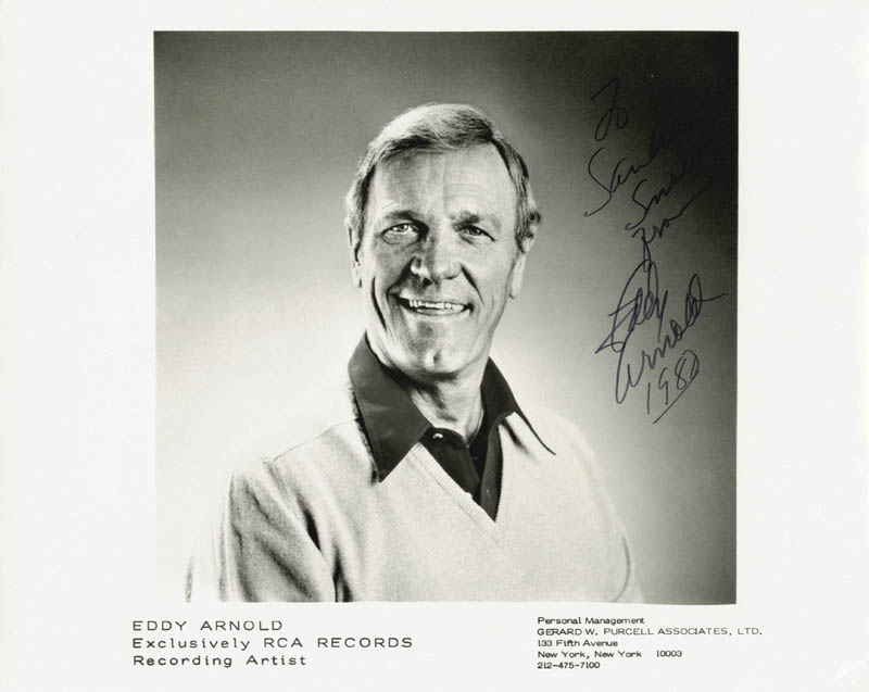 Image 1 for Eddy Arnold - Autographed Inscribed Photograph 1980 - HFSID 180333