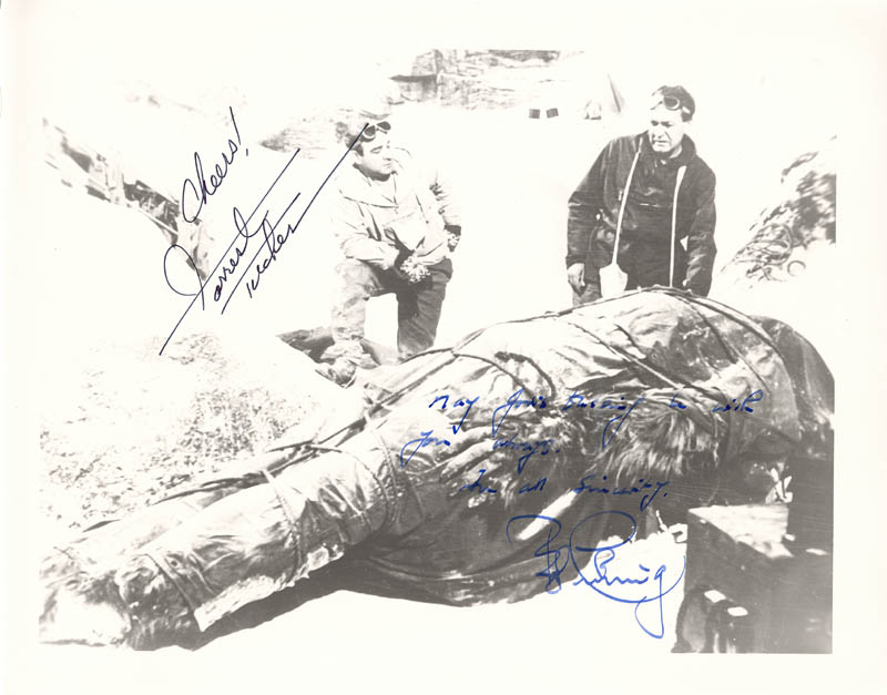 Image 1 for The Abominable Snowman Movie Cast - Autographed Signed Photograph co-signed by: Peter Cushing, Forrest Tucker - HFSID 180455