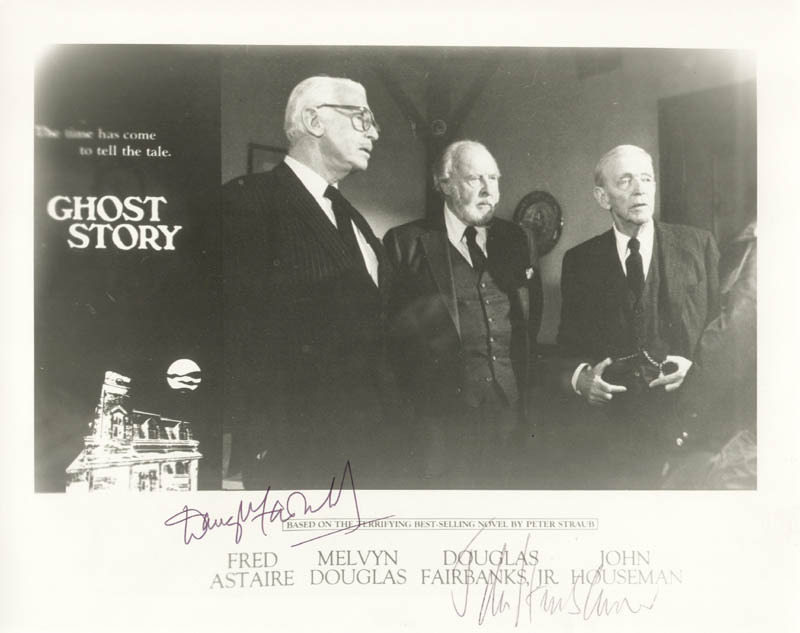 Image 1 for Ghost Story Movie Cast - Autographed Signed Photograph co-signed by: Douglas Fairbanks Jr., John Houseman - HFSID 180459