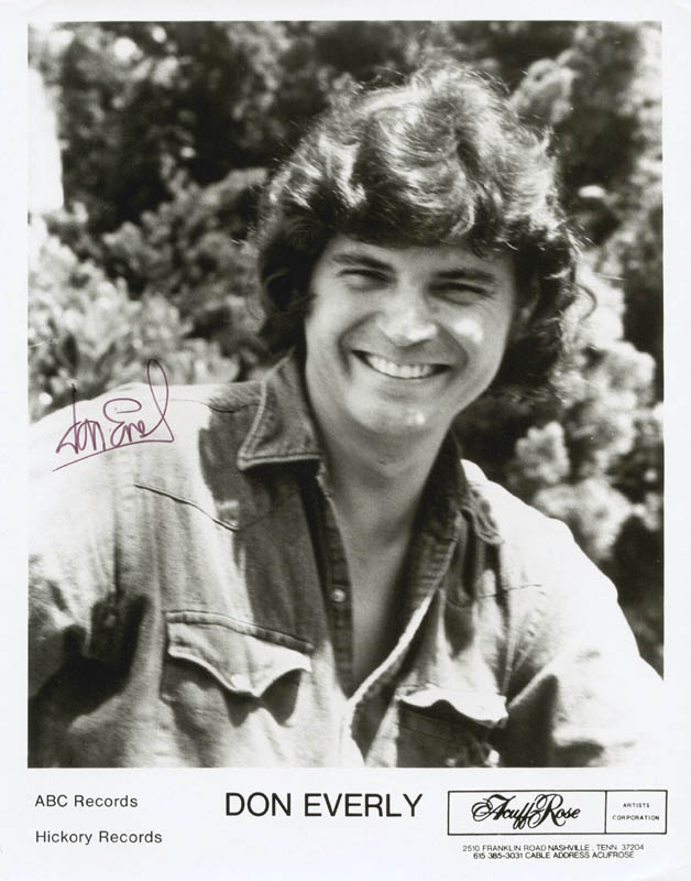 Image 1 for Everly Brothers (Don Everly) - Printed Photograph Signed In Ink - HFSID 180708