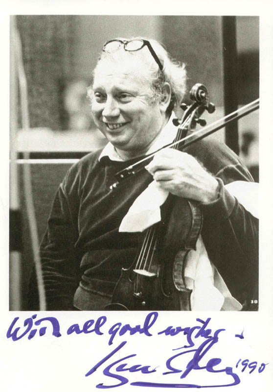 Image 1 for Isaac Stern - Autographed Signed Photograph 1990 - HFSID 180751