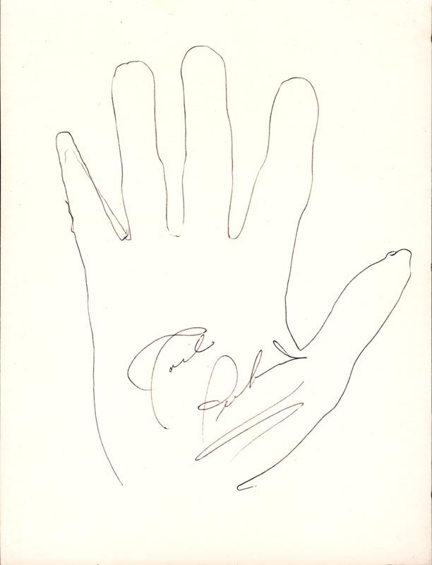 Image 1 for Carl Lee Perkins - Hand/Foot Print Or Sketch Signed - HFSID 180768