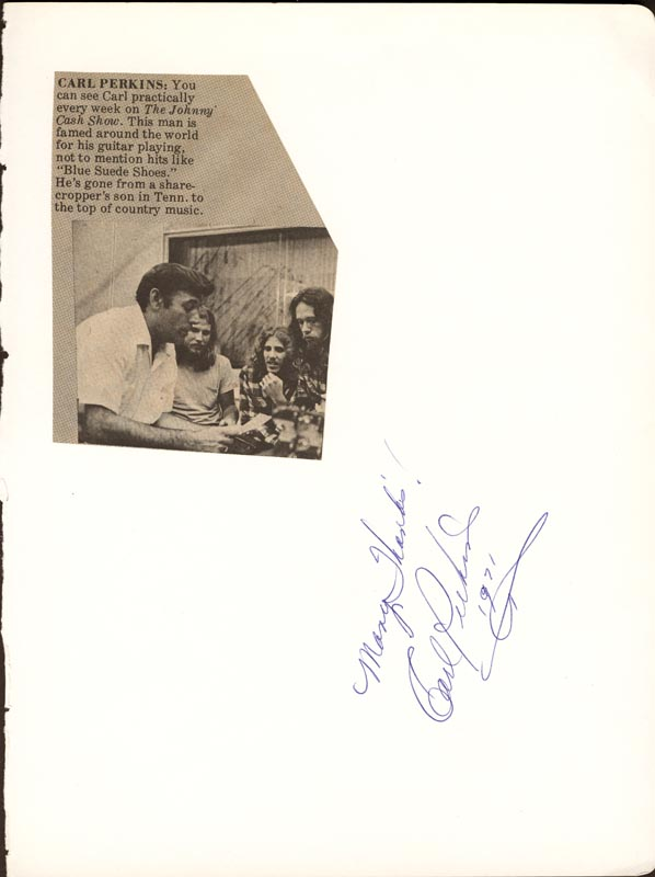 Image 1 for Carl Lee Perkins - Autograph Sentiment Signed 1971 - HFSID 180769