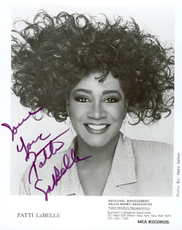 449bc8ecf Patti Labelle - Autographed Signed Photograph | HistoryForSale Item ...