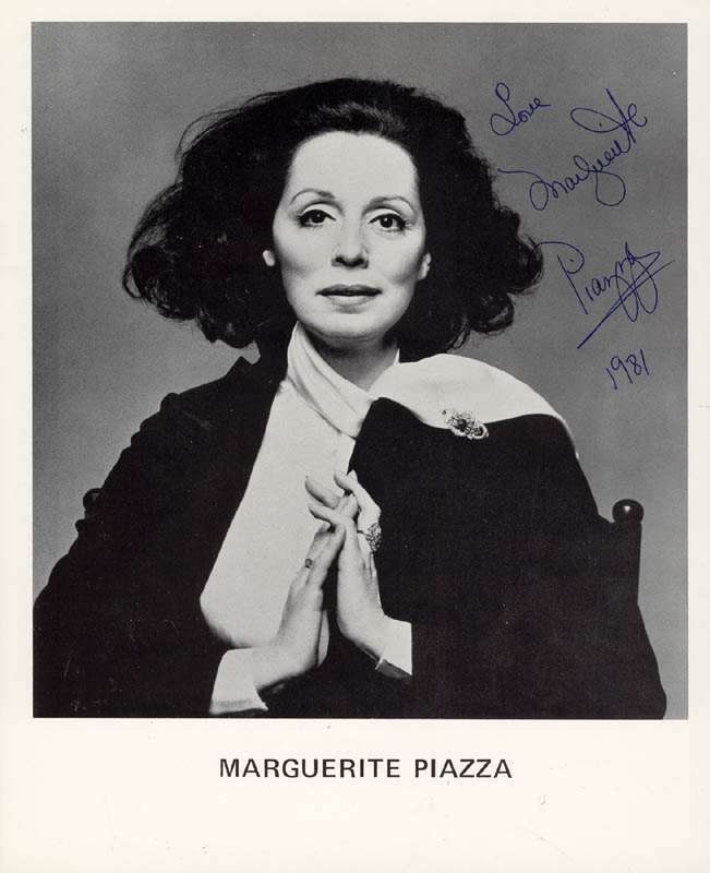Image 1 for Marguerite Piazza - Printed Photograph Signed In Ink 1981 - HFSID 180832
