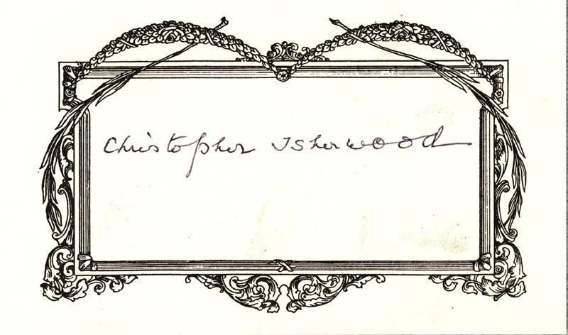Image 1 for Christopher Isherwood - Autograph - HFSID 180871