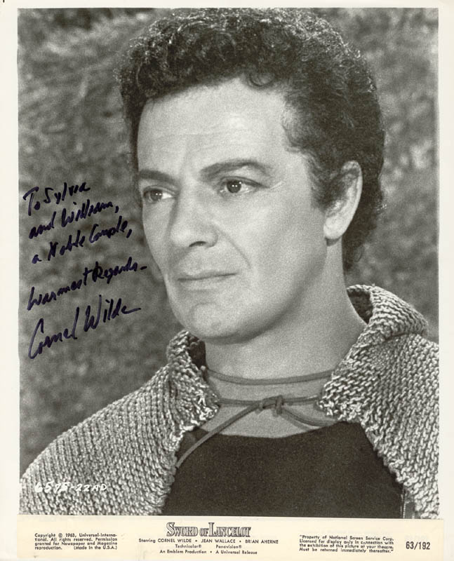 Image 1 for Cornel Wilde - Autographed Signed Photograph - HFSID 180897