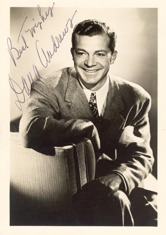 Image 1 for Dana Andrews - Autographed Signed Photograph - HFSID 181313