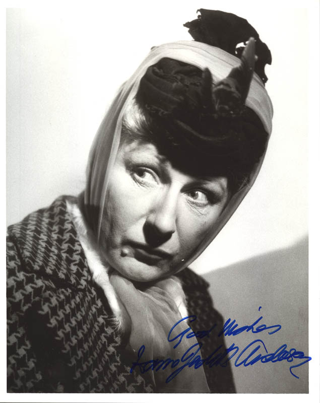 Image 1 for Dame Judith Anderson - Autographed Signed Photograph - HFSID 181414