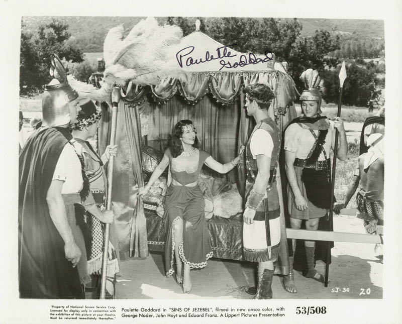 Image 1 for Paulette Goddard - Autographed Signed Photograph - HFSID 181458