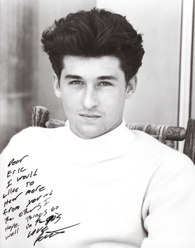 Patrick Dempsey Autographed Inscribed Photograph Historyforsale