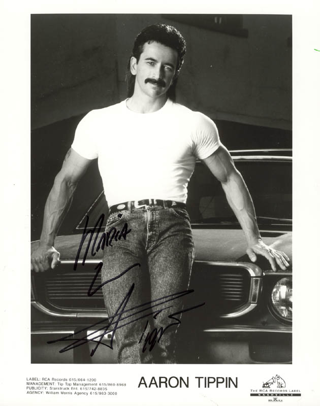Image 1 for Aaron Tippin - Inscribed Printed Photograph Signed In Ink - HFSID 181555