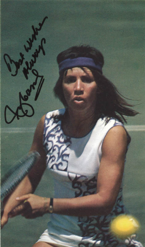 Rosemary Casals HistoryForSale Autographs and Manuscripts Rosie