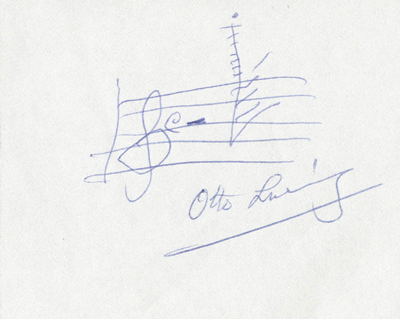 Image 1 for Otto Luening - Autograph Musical Quotation Signed - HFSID 181697