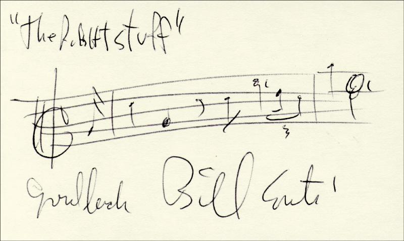 Image 1 for Bill Conti - Autograph Musical Quotation Signed - HFSID 181986