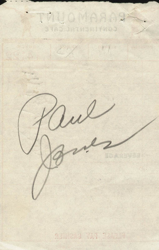 Image 1 for Paul Jones - Receipt Signed 02/02/1952 - HFSID 182183