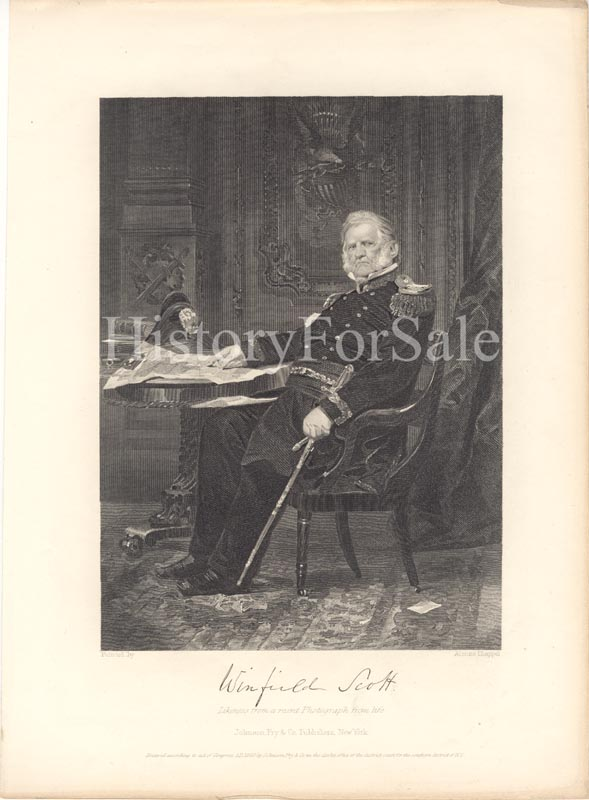 Image 1 for Lt. General Winfield Scott - Steel Engraving Unsigned - HFSID 182413