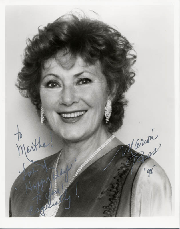 Image 1 for Marion Ross - Autographed Inscribed Photograph 1995 - HFSID 182851