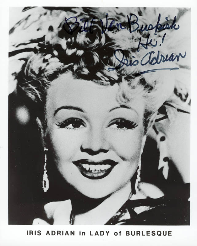 Image 1 for Iris Adrian - Autographed Inscribed Photograph - HFSID 182903