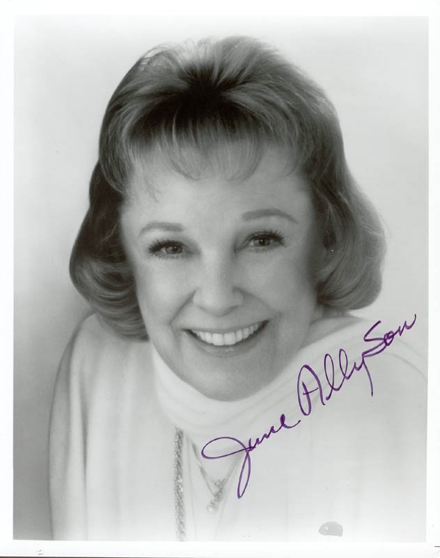 Image 1 for June Allyson - Autographed Signed Photograph - HFSID 182919