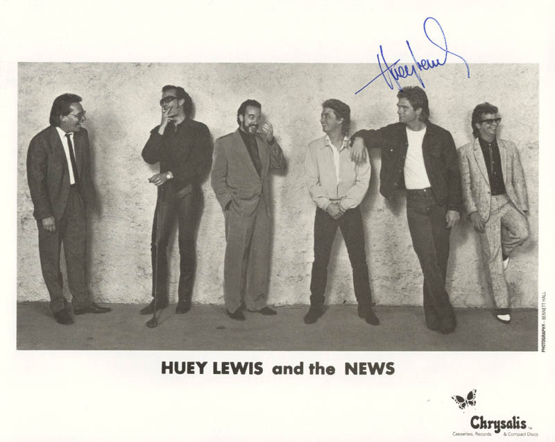 Image 1 for Huey Lewis & The News (Huey Lewis) - Autographed Signed Photograph - HFSID 183083