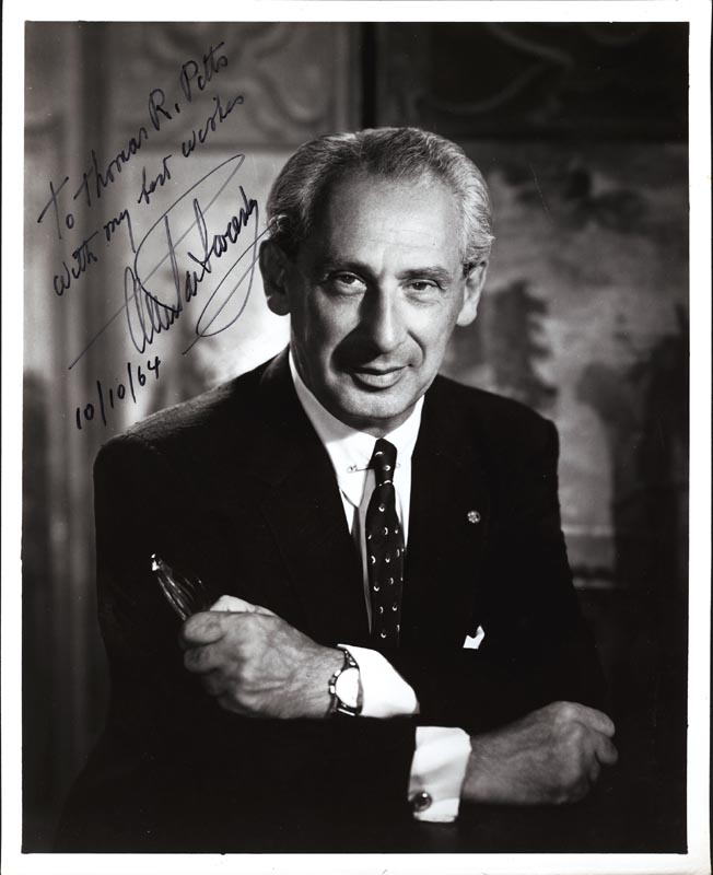 Image 1 for Alexander De Seversky - Autographed Inscribed Photograph 10/10/1964 - HFSID 18312