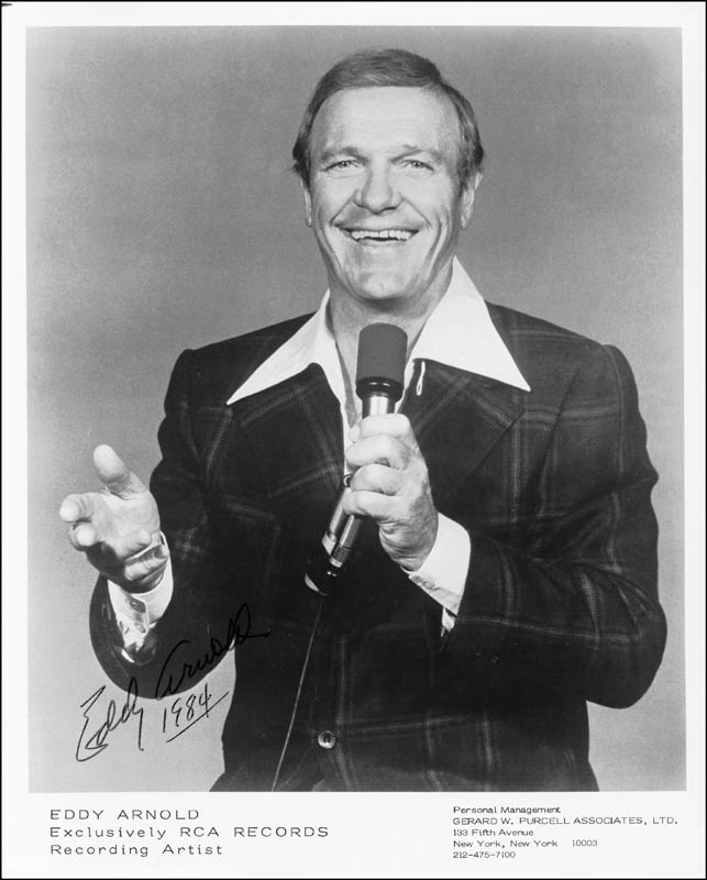 Image 1 for Eddy Arnold - Autographed Signed Photograph 1984 - HFSID 183587