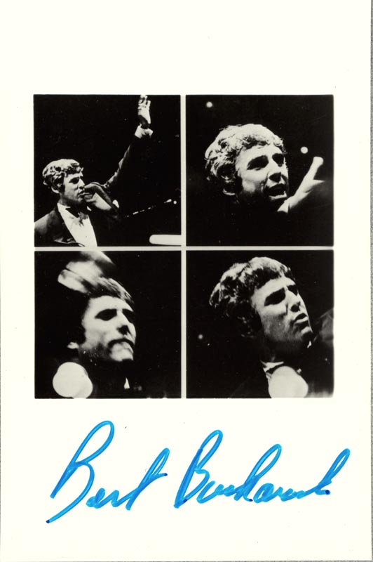 Image 1 for Burt Bacharach - Autographed Signed Photograph - HFSID 18374