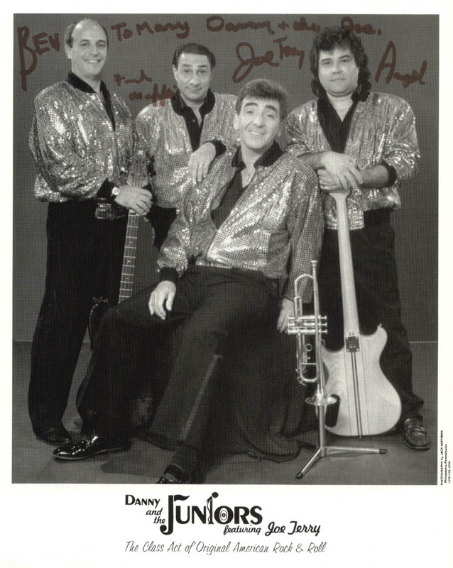 Image 1 for Danny & The Juniors - Autographed Inscribed Photograph with co-signers - HFSID 183773