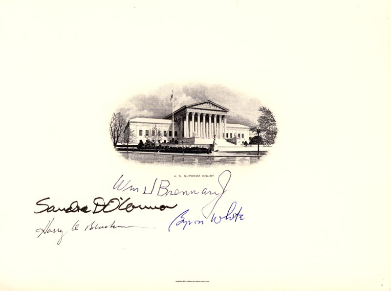 Image 1 for Associate Justice William J. Brennan Jr. - Engraving Signed with co-signers - HFSID 183823