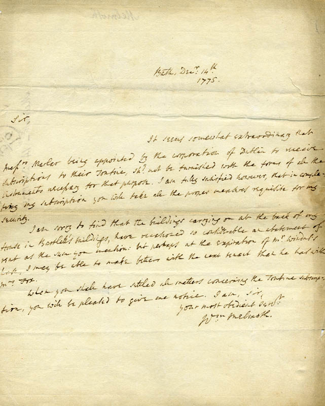 Image 1 for William Melmoth - Autograph Letter Signed 12/14/1775 - HFSID 1841