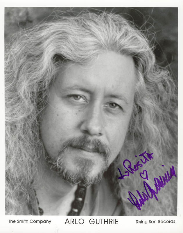 Image 1 for Arlo Guthrie - Inscribed Printed Photograph Signed In Ink - HFSID 184115