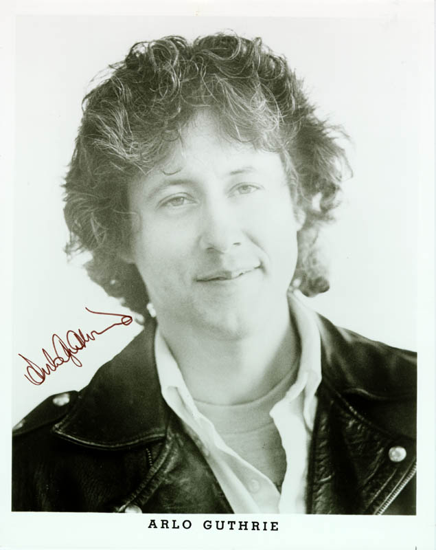 Image 1 for Arlo Guthrie - Printed Photograph Signed In Ink - HFSID 184123