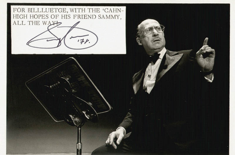 Image 1 for Sammy Cahn - Autographed Signed Photograph 1978 - HFSID 18506