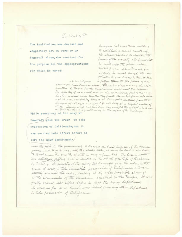 Image 3 for George Bancroft - Annotated Typed Manuscript Unsigned - HFSID 1851