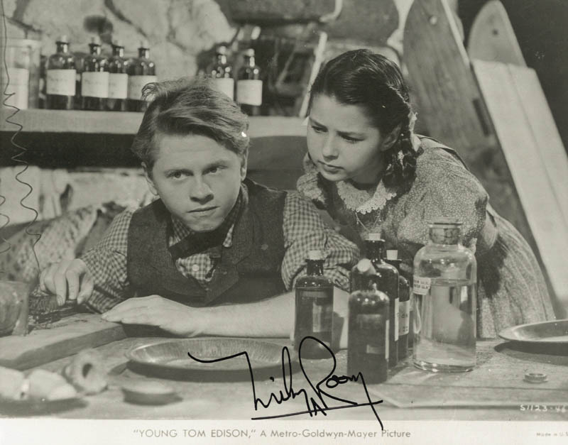 Image 1 for Mickey Rooney - Printed Photograph Signed In Ink - HFSID 185269