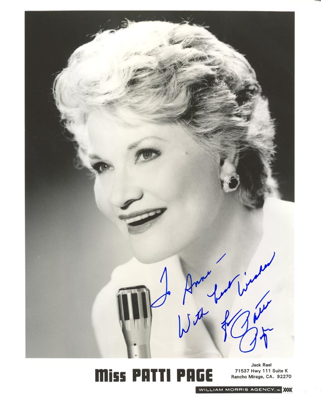 Image 1 for Patti Page - Autographed Inscribed Photograph - HFSID 185628