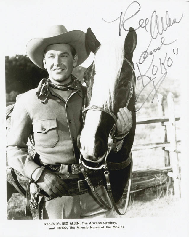 Image 1 for Rex Allen - Autographed Signed Photograph - HFSID 185700