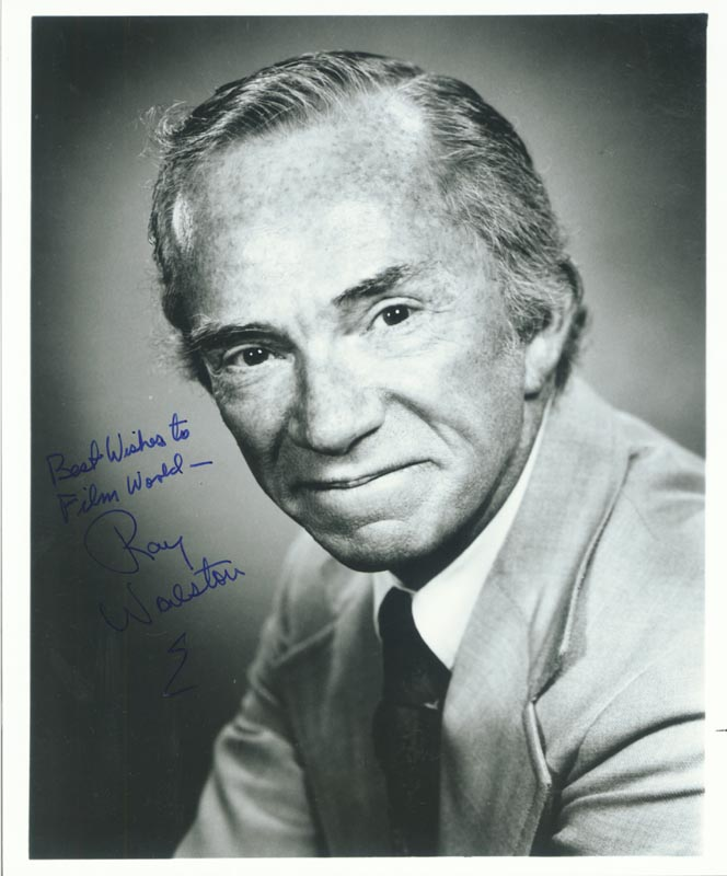Image 1 for Ray Walston - Autographed Inscribed Photograph - HFSID 186047