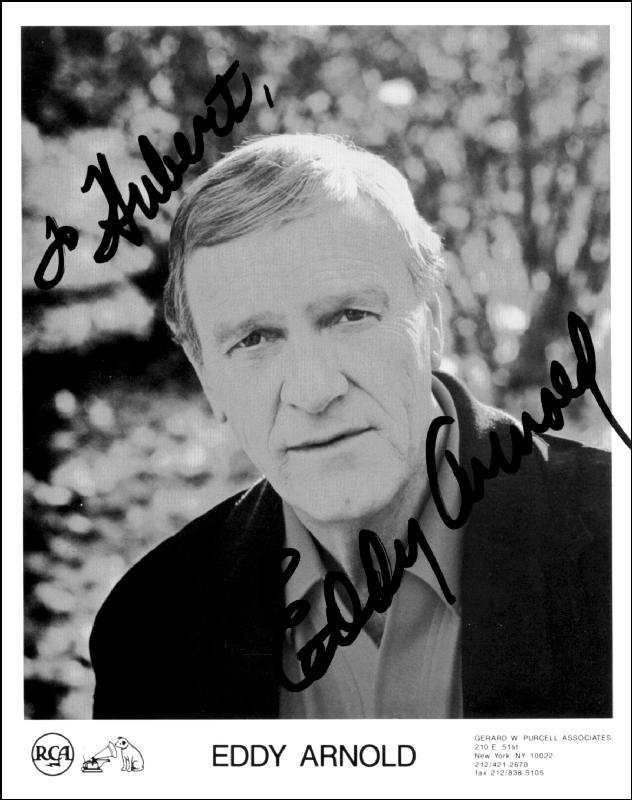 Image 1 for Eddy Arnold - Autographed Inscribed Photograph - HFSID 186068