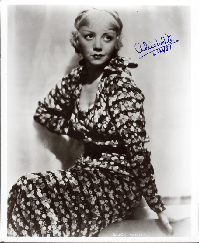 Image 1 for Alice White - Autographed Signed Photograph 06/24/1981 - HFSID 186193