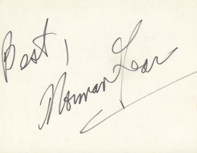 Image 1 for Norman Lear - Autograph Sentiment Signed - HFSID 187